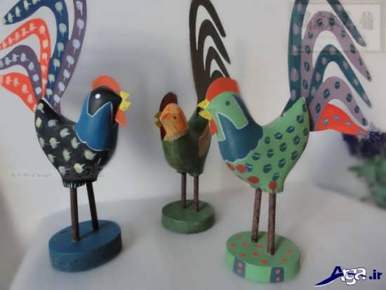کاردستی های جالب مرغ و خروس