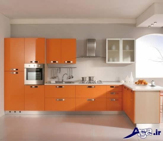 مدل کابینت نارنجی