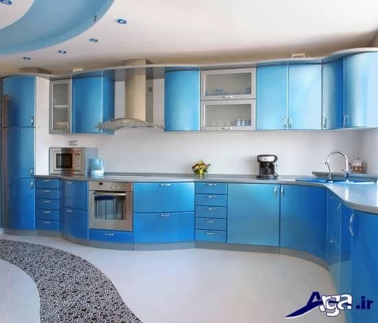 مدل کابینت آبی آشپزخانه