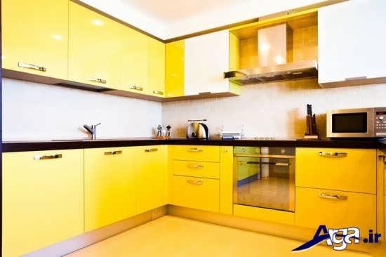 مدل کابینت زرد