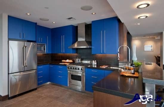 کابینت آبی آشپزخانه