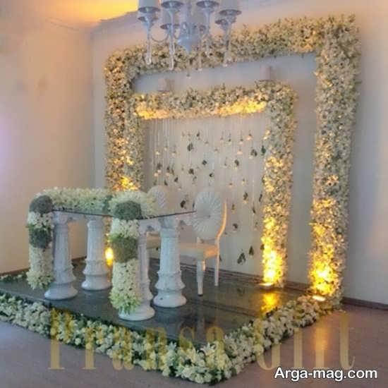 تزیین جذاب جایگاه عروس
