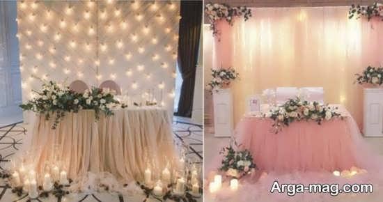 تصاویری از تزیینات جایگاه عروس