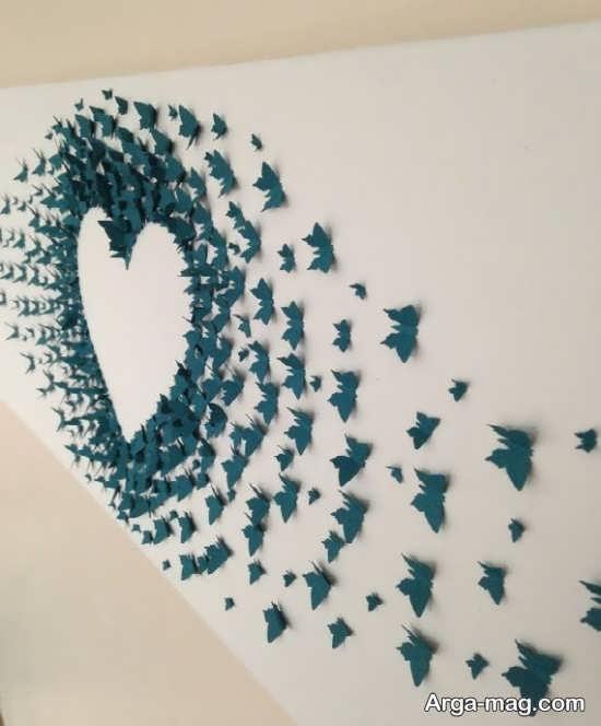 تزیینات جدید دیوار با کاغذهای رنگی