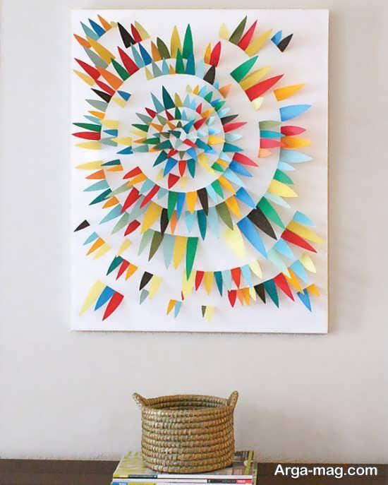 طرحی جدید از دیزاین دیوار با کاغذ