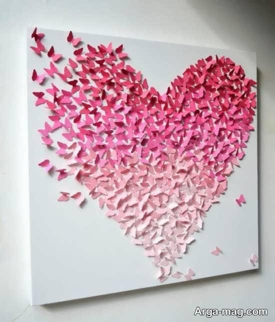 تزیینات بی نظیر دیوار با کاغذهای رنگی