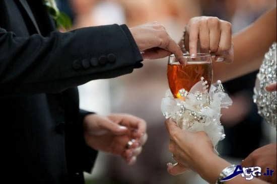 تزیین جام عسل عروس و داماد