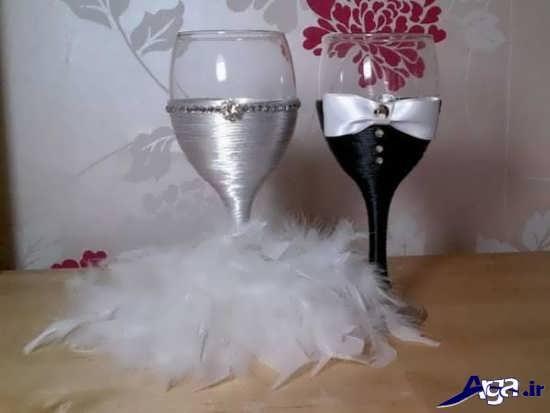 تزیین عسل سفره عقد به شکل عروس و داماد