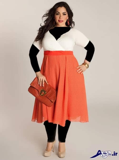 مدل شیک و زیبا لباس مجلسی برای افراد شکم دار