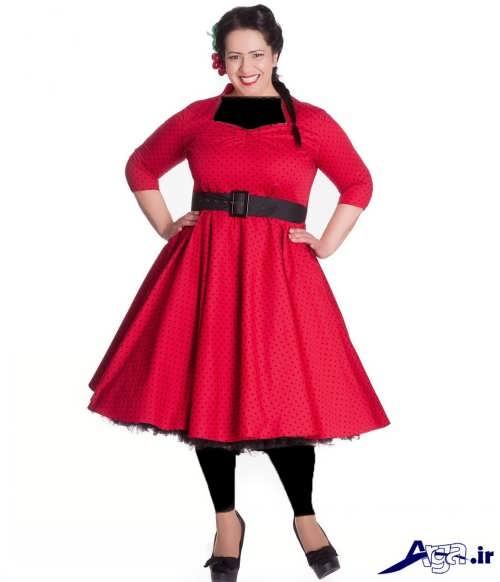 مدل لباس مجلسی کمربند دار برای خانم ها با شکم بزرگ