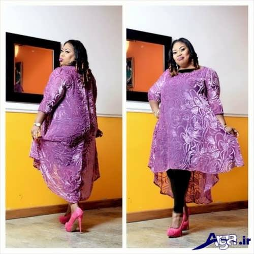 مدل لباس مجلسی گیپور برای افراد شکم دار