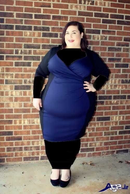 لباس مجلسی کوتاه برای خانم های شکم دار