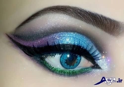 مدل آرایش خلیجی چشم زیبا