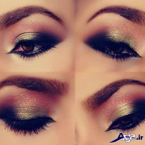 مدل زیبا و متفاوت آرایش چشم
