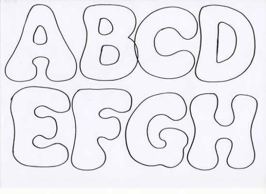 الگوی حروف انگلیسی نمدی