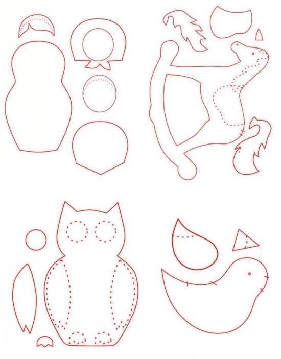 Free Printable Fox Ornament Pattern For Kids
