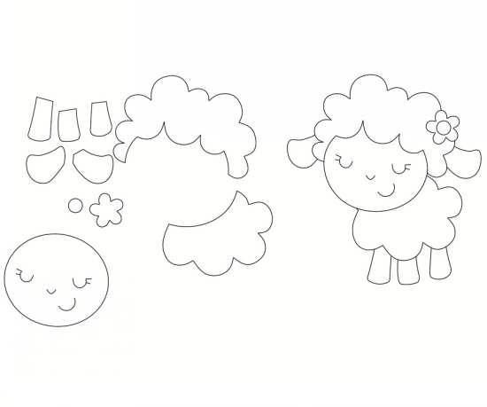 الگوی گوسفند نمدی