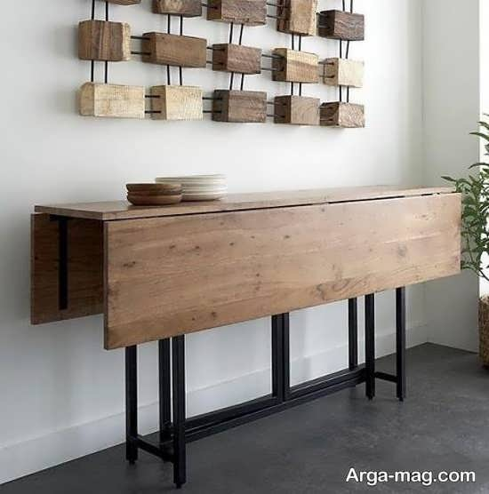 مدل قشنگ میز ناهارخوری تاشو دیواری