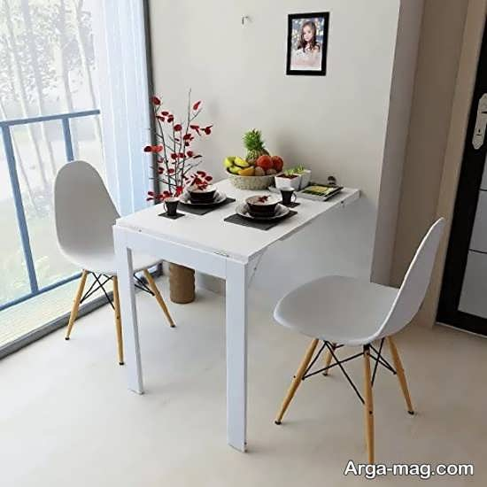مدل جالب میز ناهارخوری تاشو دیواری