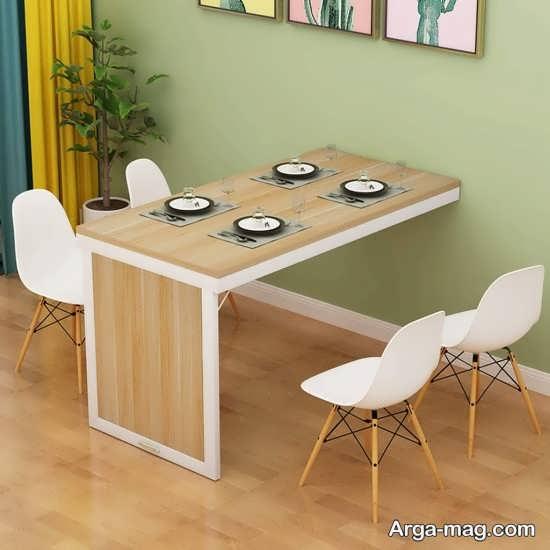 مدل منحصر به فرد میز ناهارخوری تاشو دیواری