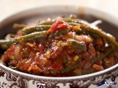طرز تهیه خوراک لوبیا سبز با گوشت