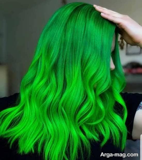 رنگ موهای سبز
