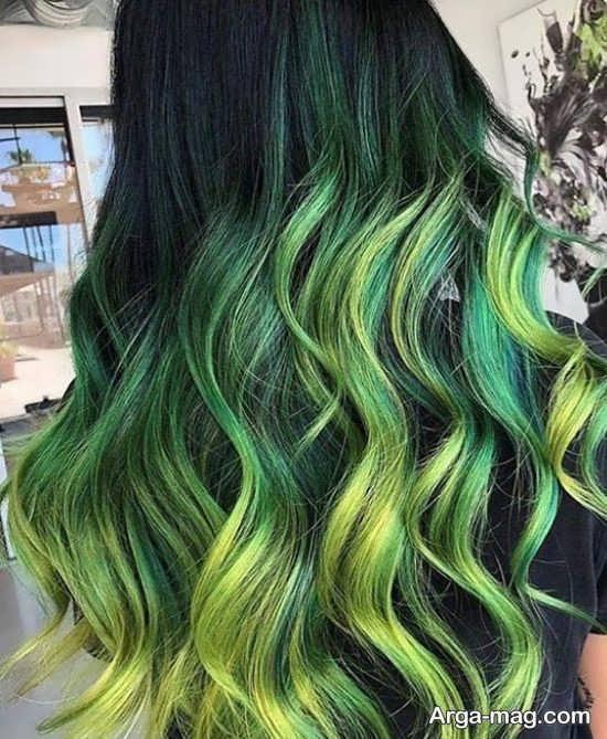 تصاویر رنگ مو سبز