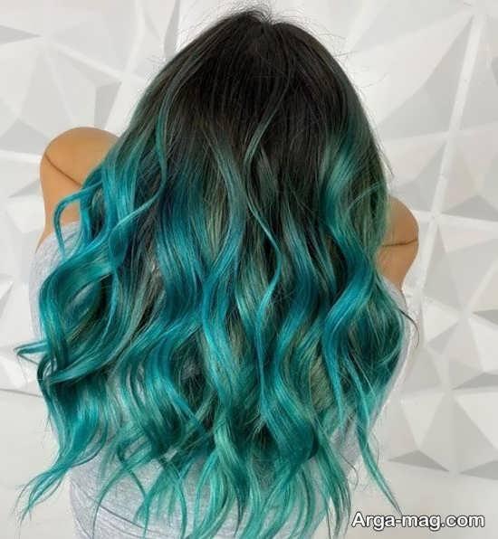 رنگ مو سبز جذاب