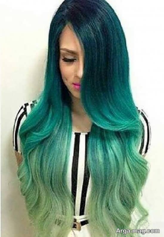 رنگ مو سبز