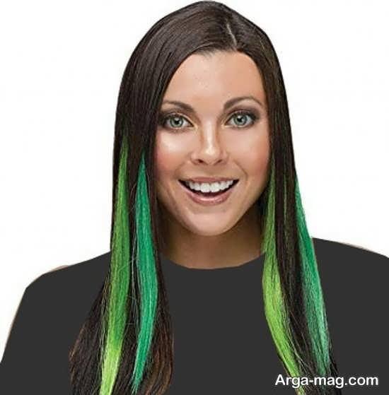 روشنرنگ مو سبز