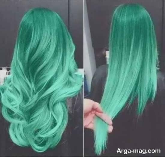 انواع رنگ مو سبز