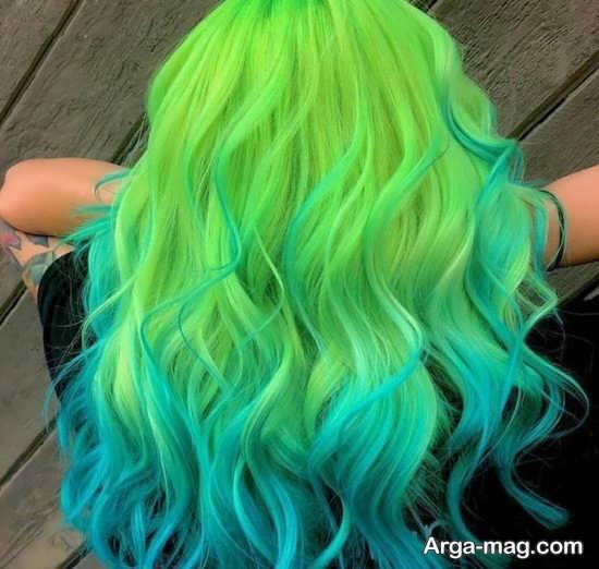 رنگ مو سبز فانتزی و زیبا