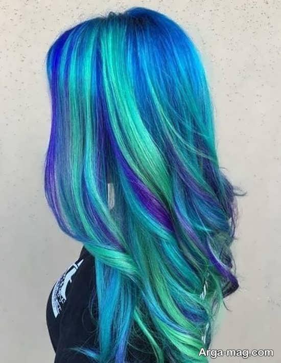 جذاب ترین رنگ مو سبز