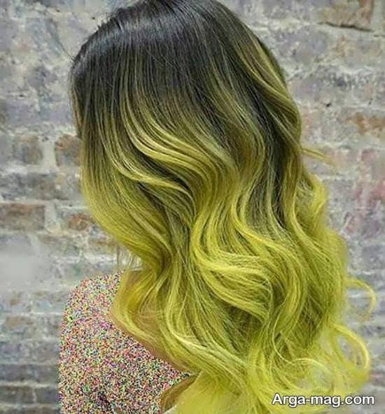 مدل رنگ موی سبز زیبا