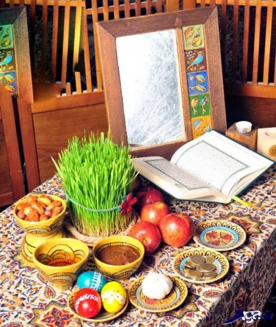 تزیین سفره هفت سین سنتی جدید
