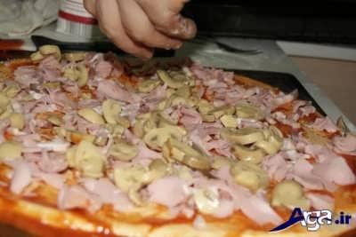دستور پخت پیتزا ایتالیایی در منزل