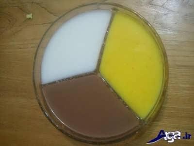 طرز تهیه فرنی سه رنگ