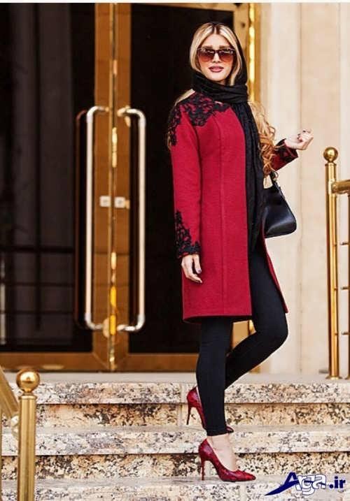 مدل مانتو قرمز 2017