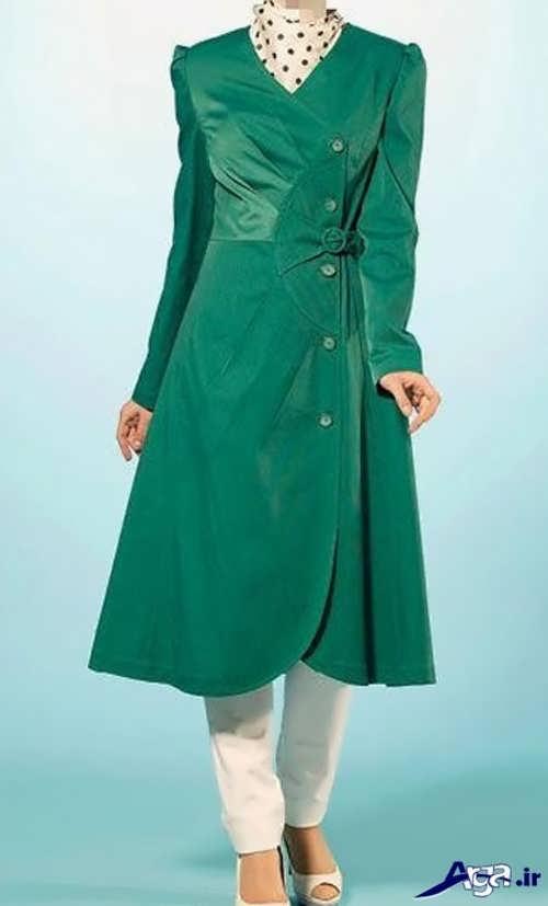 مدل مانتو سبز 2017