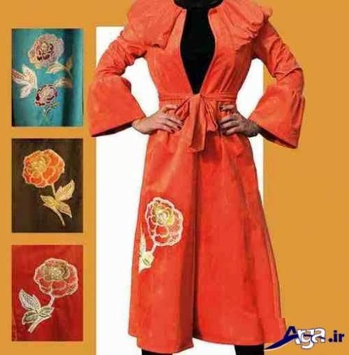 مدل مانتو گلدار زنانه