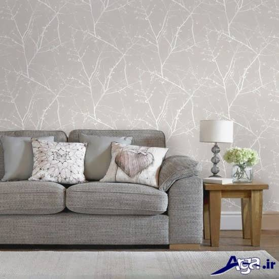 Bedroom Wallpaper Designs Black And White Bedroom Furniture For Teenagers Bedroom Door Curtains Diy Kids Bedroom Decor: مدل کاغذ دیواری مدرن و جدید برای اتاق پذیرایی و اتاق خواب