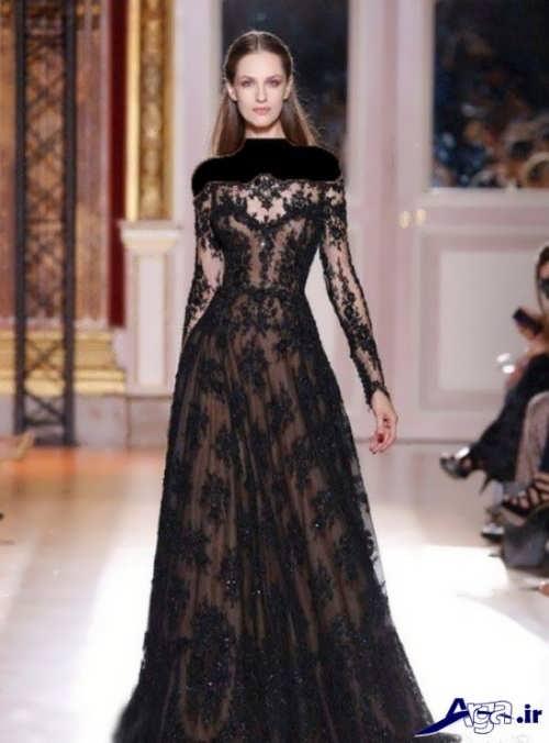 لباس مجلسی بلند و شیک زنانه