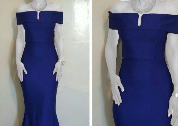 مدل لباس مجلسی یقه قایقی با طرح بلند و کوتاه
