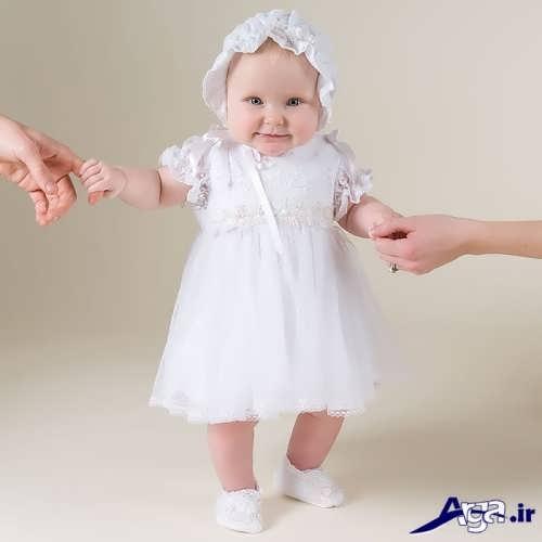 مدل ساده لباس عروس نوزادی