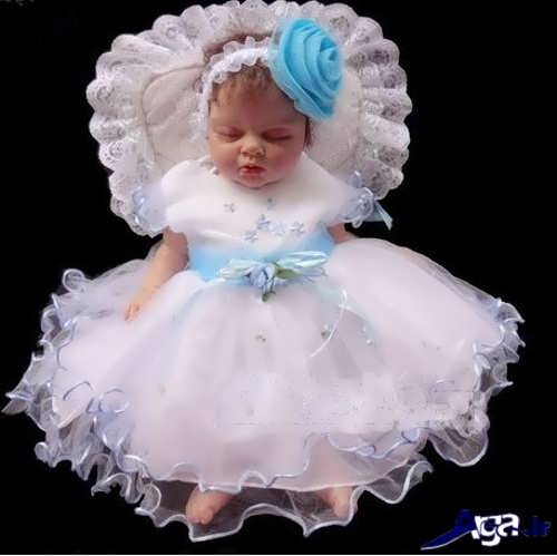 لباس عروس نوزادی با طرح فانتزی
