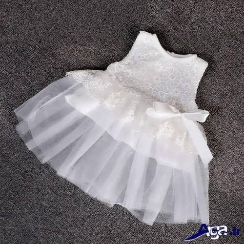 مدل لباس عروس توری نوزاد