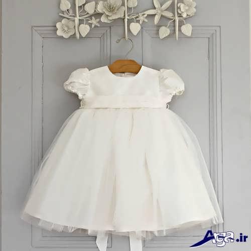 مدل لباس عروس نوزادی ساده