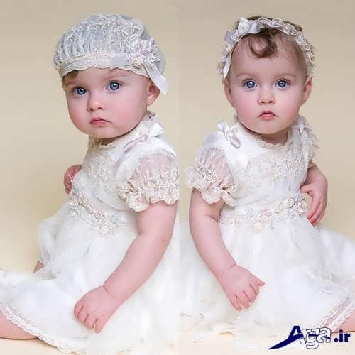 مدل لباس عروس با کلاه نوزادی