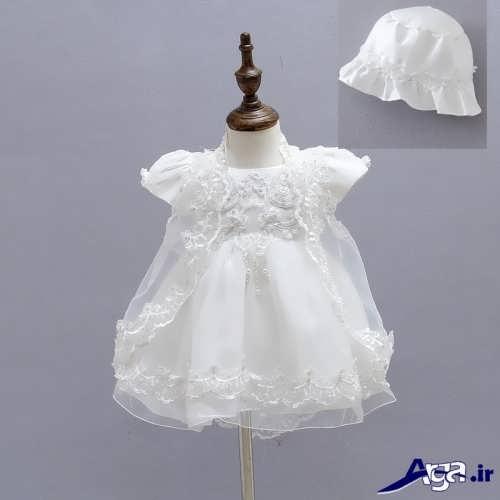 مدل لباس عروس نوزادی با کلاه