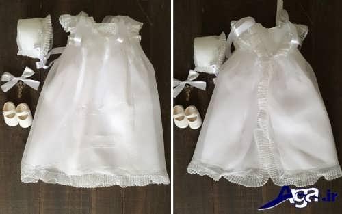 مدل لباس عروس نوزادی با طرح ساده